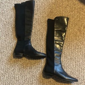 NEW Vince Camuto Leather/Neoprene Tall Boots, 7.5